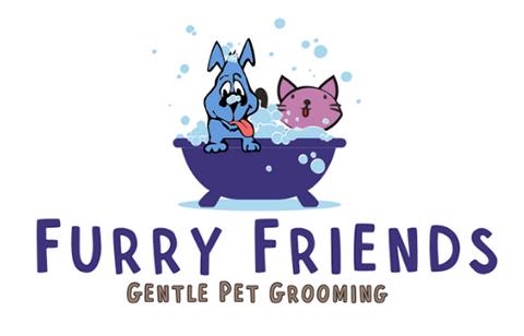 Furry Friends Gentle Pet Grooming Logo