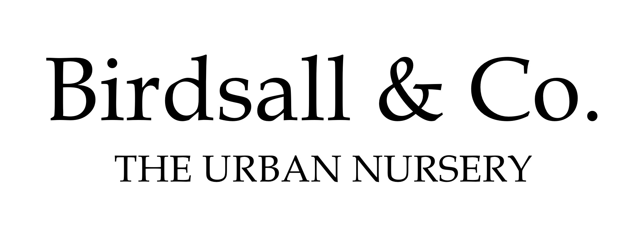 Birdsall & Co. The Urban Nursery Logo