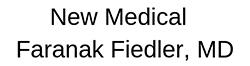 New Medical: Faranak Fiedler, MD Logo