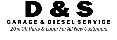 D & S Garage and Diesel Service Logo