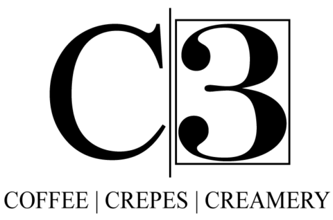 C3 Coffee Crepes Creamery Logo