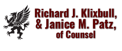 Richard J. Klixbull  & Janice M. Patz, of Counsel Logo