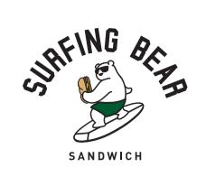 Surfing Bear Sandwich Logo