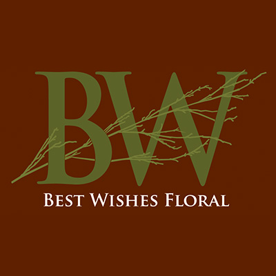 Best Wishes Floral Logo