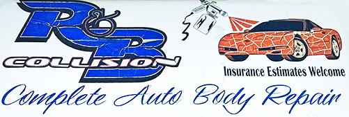 R & B Collision Logo