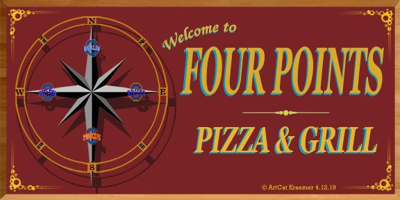 Four Points Pizza & Grill Logo