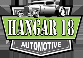 Hangar 18 Automotive Logo