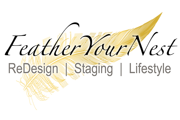 Feather Your Nest Home Staging and Interior Design Logo