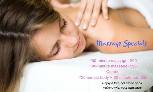 Massage specials