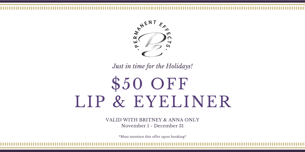 $50 off lip and eyeliner nov and dec