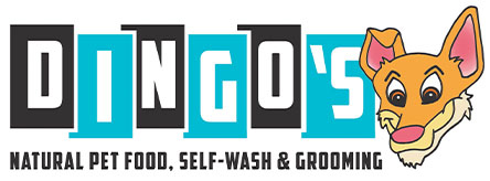 Dingo's Natural Pet Food, Self-Wash & Grooming Logo