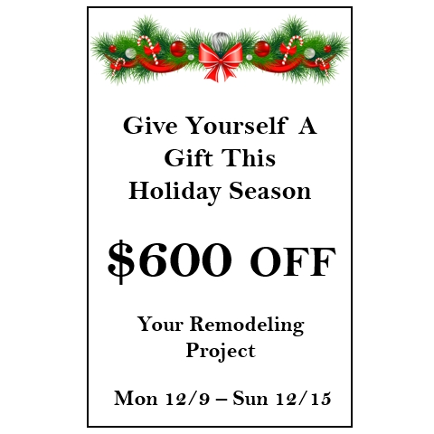 $600 off your remodeling project