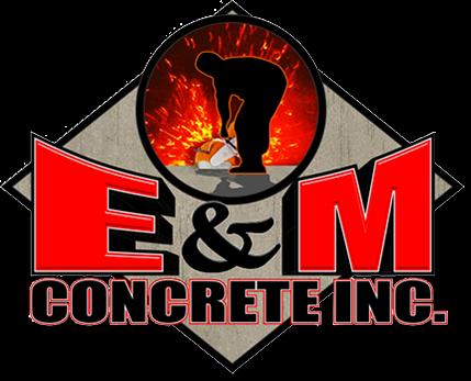 E&M Concrete NC Logo