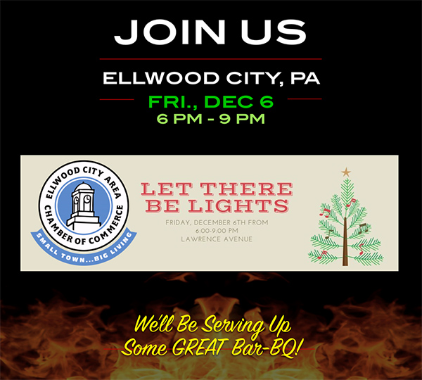 Join Us Friday Dec 6 in Ellwood City, PA