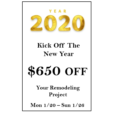 $650 off your remodeling project