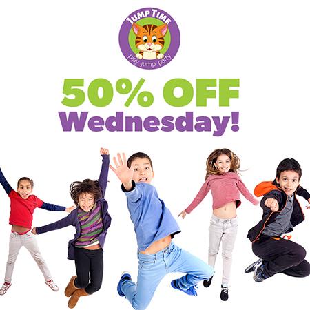 50% off wednesday!