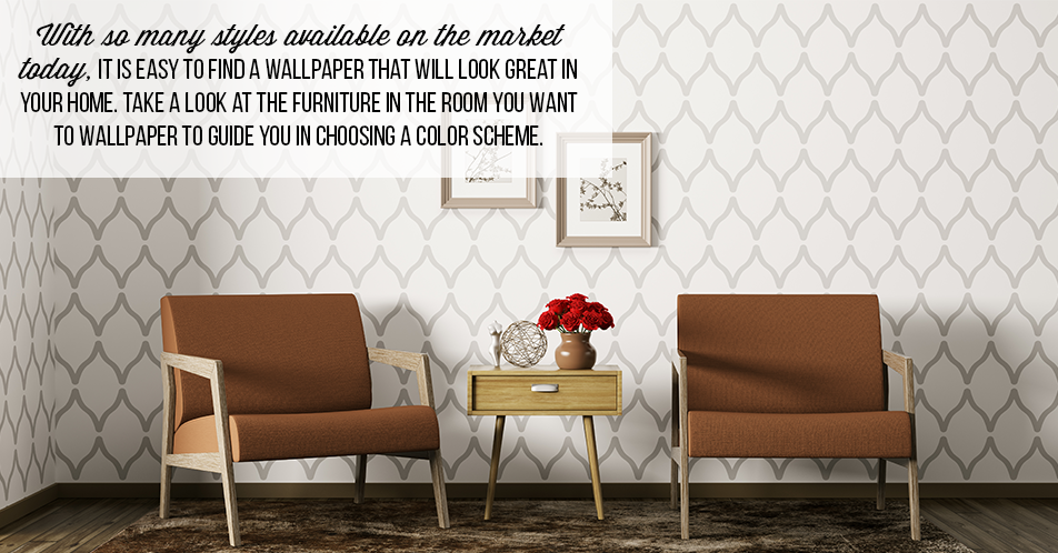 With so many styles available on the market today, it is easy to find a wallpaper that will look great in your home. Take a look at the furniture in the room you want to wallpaper to guide you in choosing a color scheme.