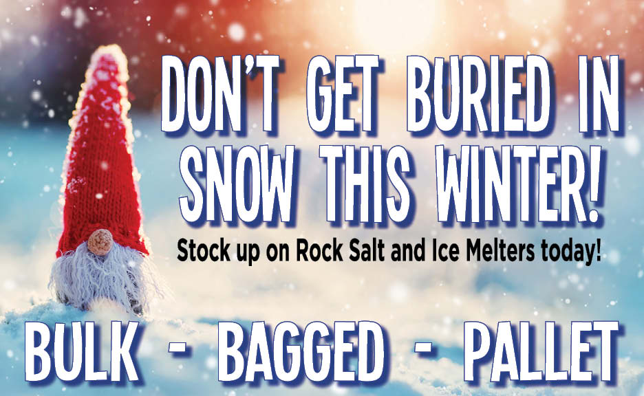 stock up on rock salt and ice melters today!