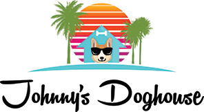 Johnny's Doghouse Pet Grooming & Boarding Logo