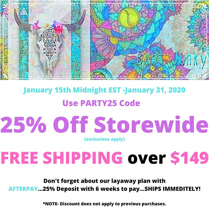 Store Wide 25% off