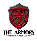 The Armory Lock and Key Logo
