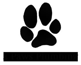 4 Paws Plumbing Logo