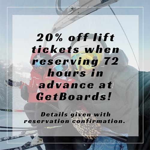 20% Off Lift Tickets