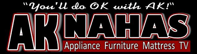 A K Nahas Appliance Furniture Mattress TV Logo