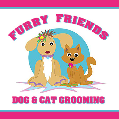 Furry Friends Dog and Cat Grooming Logo