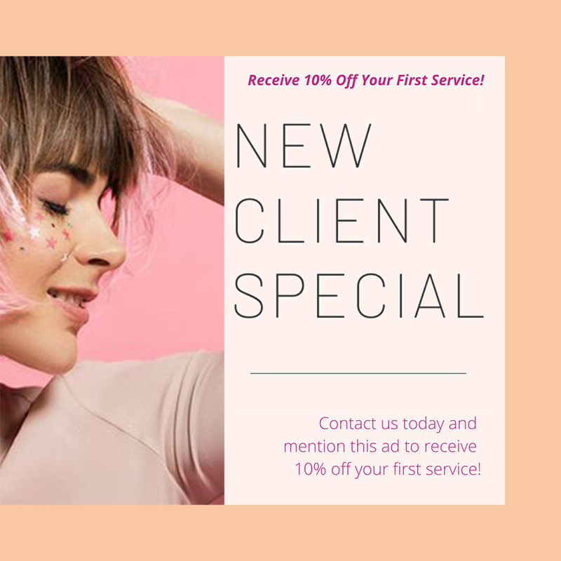 15% off all services to new clients