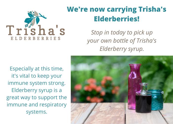 We're Now Carrying Trisha's Elderberries!