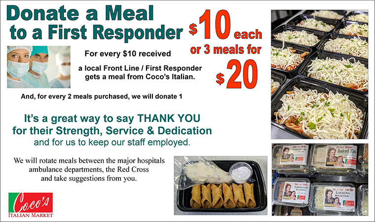 Donate a Meal to a First Responder