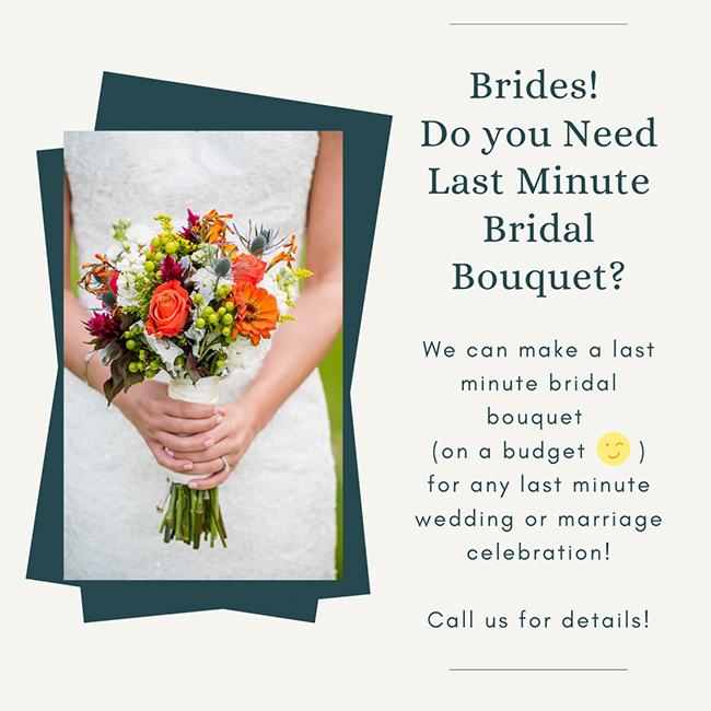 Last minute bridal bouquet