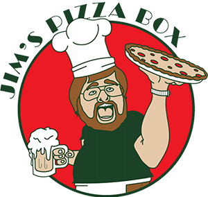 Jim's Pizza Box Logo