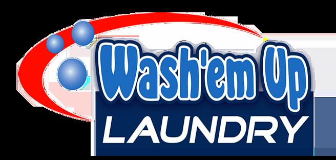 Wash'em Up Laundry #3 Logo