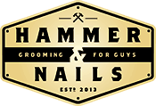 Hammer & Nails Grooming Shop for Guys Logo