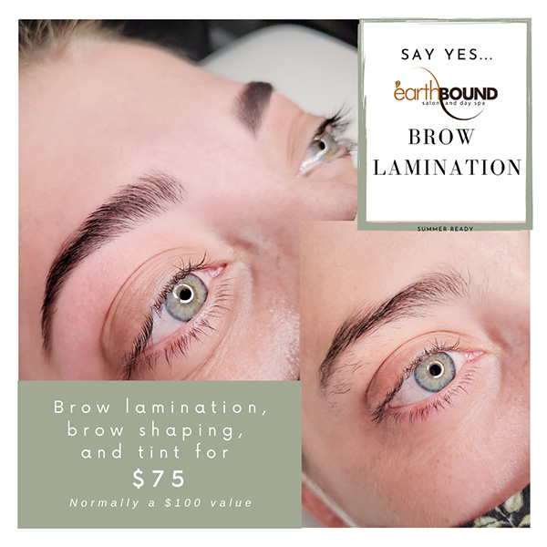 Brow Lamination, brow shaping, and tint for $75