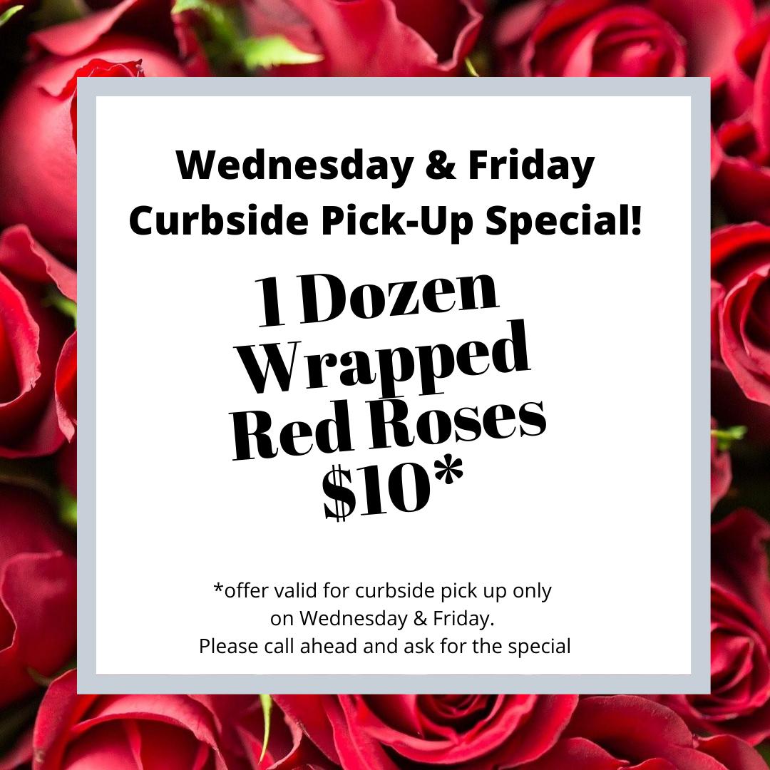 Dozen Roses $10
