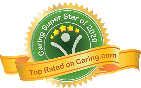Top Rated on Care.com graphic