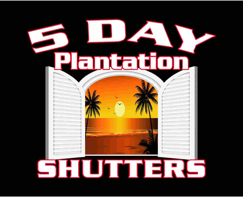 5 Day Plantation Shutters EC Logo