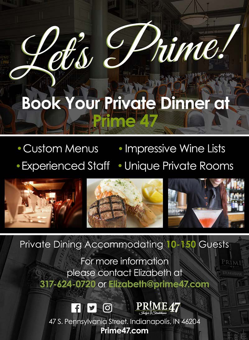 Let's Prime! Book Your Private Dinner at Prime 47!
