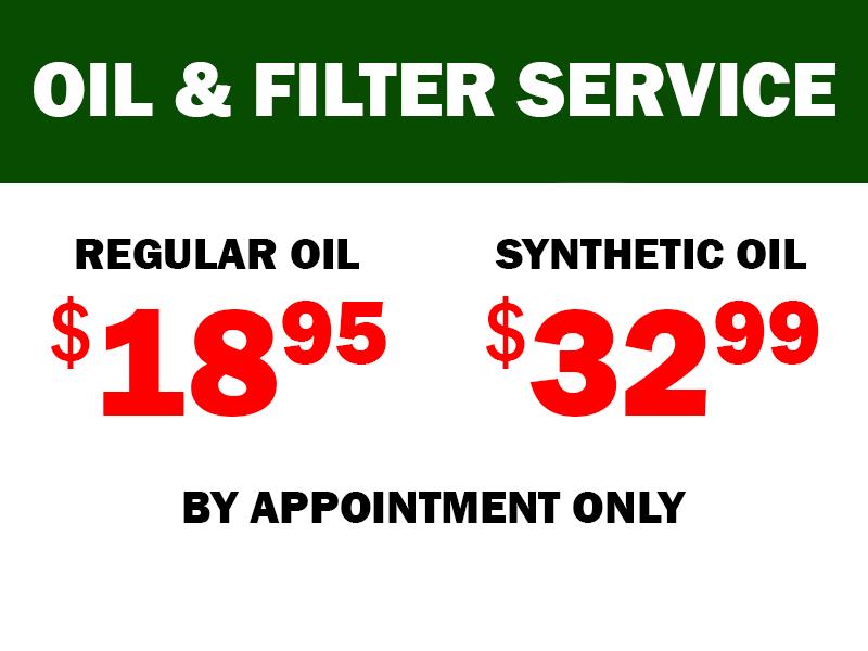 Oil & Filter Service