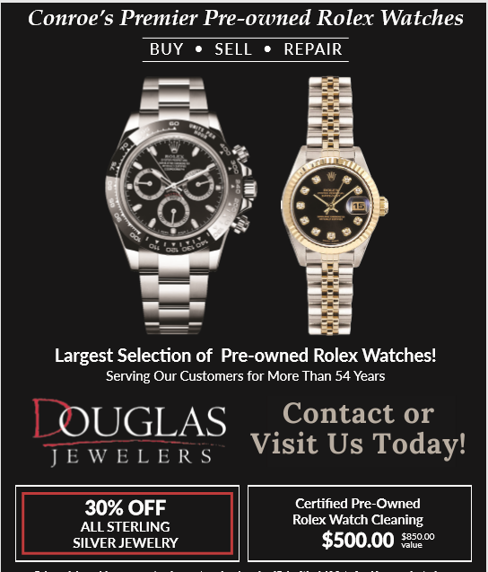 Flyer for Pre-owned Rolex Watches
