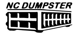 NC Dumpster Logo