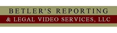 Betler's Reporting & Legal Video Services Logo