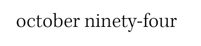 October Ninety-Four Logo
