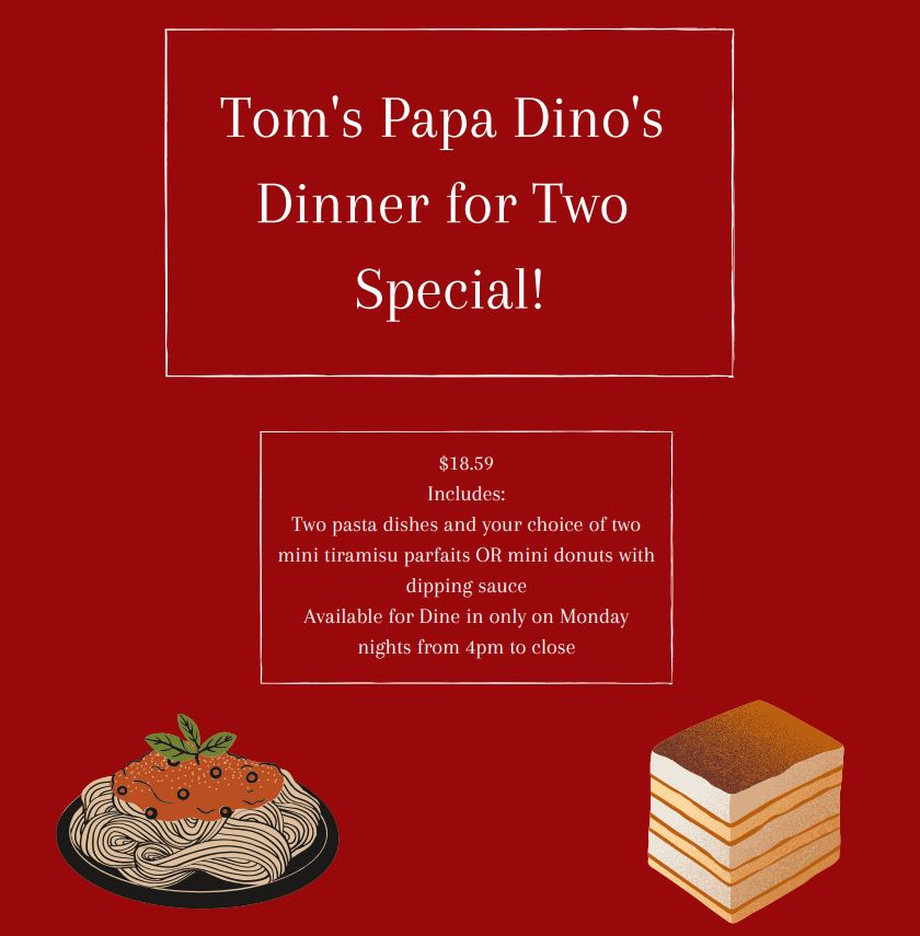 Dinner for Two Special Offer