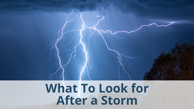 What To Look for After a Storm