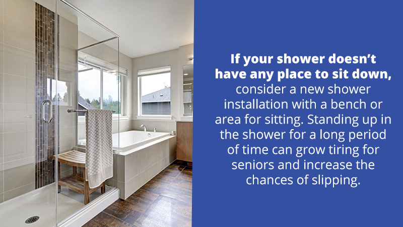 As we get older, tubs can become difficult to navigate and can raise the risks of a fall at the worst possible times. As a result, a popular remodel option is to switch to a walk-in tub or a shower insert with low edges that remove these dangers.