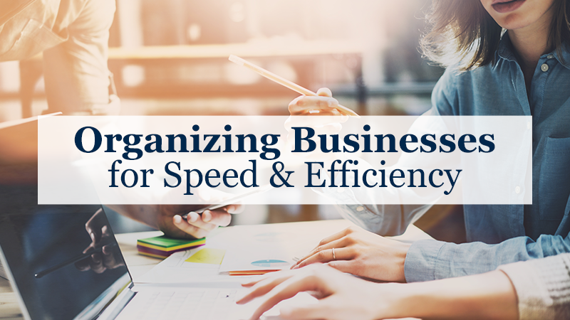 Organizing Businesses for Speed & Efficiency